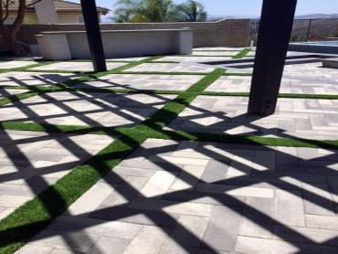 Artificial Grass Photos: Installing Artificial Grass Challenge-Brownsville, California Paver Patio, Swimming Pools
