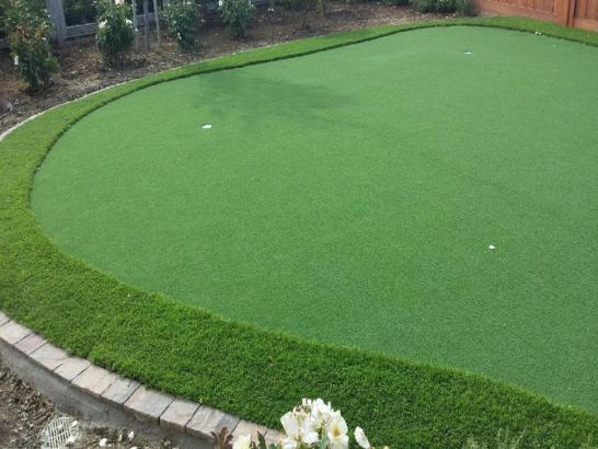 Artificial Grass Photos: Installing Artificial Grass Garberville, California How To Build A Putting Green, Backyard Landscape Ideas
