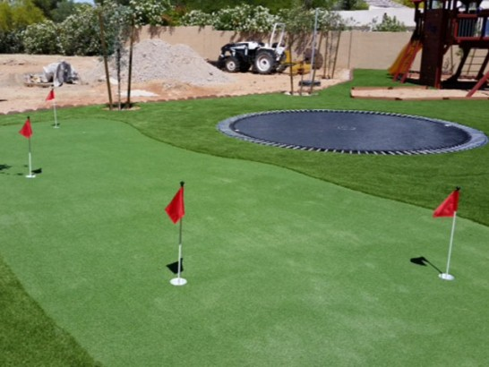 Artificial Grass Photos: Installing Artificial Grass Whitehawk, California Putting Green Grass, Backyard Makeover